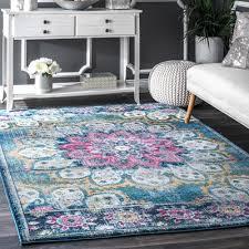 viv rae vera turquoise area rug u0026 reviews wayfair