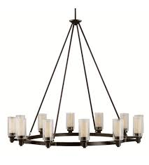 Kichler Lighting Chandeliers Kichler 2347oz Circolo 12 Light 45 Inch Olde Bronze Chandelier