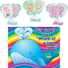Bulletin Board Decoration For New Year by Ready To Decorate 3d Whale Of A Good Year Goals Bulletin Board Display