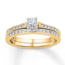 yellow gold bridal sets diamond bridal set 1 8 ct tw cut 10k yellow gold