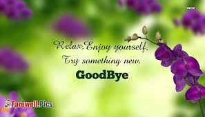 enjoy yourself relax enjoy yourself try something new farewell pics