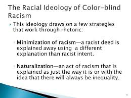 What Is Color Blind Racism Chapter Three Racial Ideologies From The 1920s To The Present
