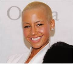 women natural hair cut with a fade amber rose in low fade haircut just a little snip pinterest