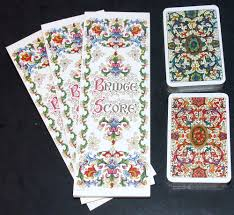 bridge set cards marcel schurman vintage florentine scroll