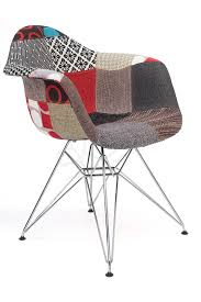 Replica Eames Dar Eiffel Chair Multi Coloured Patches Chrome