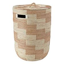 Kids Laundry Hampers by Rose Gold Seagrass Hamper The Land Of Nod