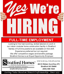 full time employment opportunities
