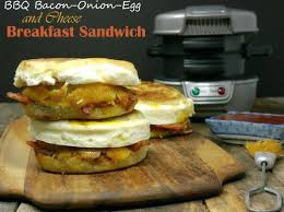 Hamilton Sandwich Maker Bacon ion Egg And Cheese Breakfast