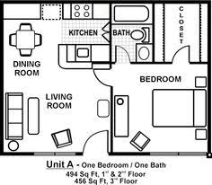 Floor Plan Apartment Design Small 1 Bedroom Apartment Layout Shoise Com