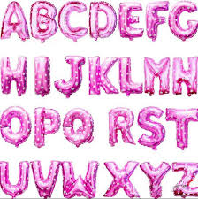 balloon decorations mylar number letter 16inch 40cm pink dots shiny capital letter metallic foil mylar