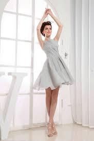 buy cheap elegant grey bridesmaid dress with bateau neckline