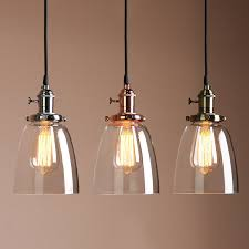 vintage copper ceiling light buyee vintage chrome finish clear glass fixture loft coffee bar