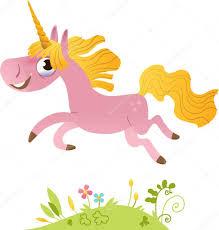 cartoon pink unicorn u2014 stock vector caramelina 13127316