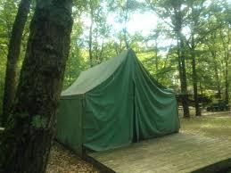 jack pine platform tents at camp tuhsmeheta camp t