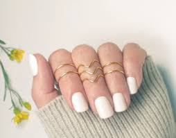 midi ring set gold knuckle ring set midi rings stacking above knuckle
