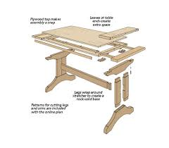 table with slide out leaves charming dining room trends from slide out trestle table woodsmith
