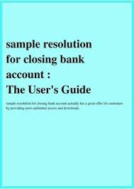 5 bank account cancellation letter synopsis example sample