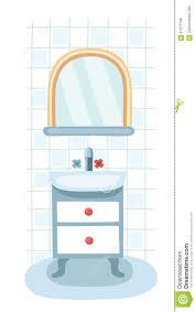 elements for modern bathroom mirror shelf and sink interior