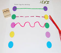 easter pre writing and fine motor activity for preschoolers