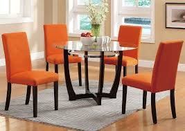 Microfiber Dining Room Chairs Expressway Furniture Orange Microfiber Dining Chair