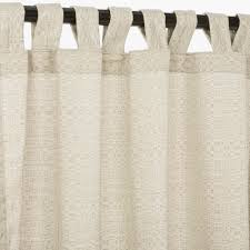 Beige Linen Curtains Linen Silver Sunbrella Outdoor Curtains With Tabs
