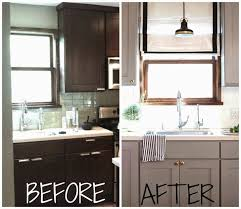 Painted Kitchen Cabinets Before After Best 25 Painting Tile Backsplash Ideas On Pinterest Painted