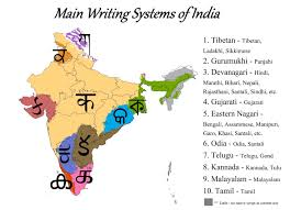 Indian Map Main Writing Systems Of India Map Maps Uncommon Pinterest