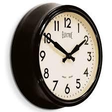 Wall Clocks Newgate 50s Electric Wall Clock Black Retro Designer Wall Clock
