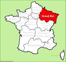 France Region Map by Grand Est Location On The France Map