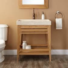 bathrooms design l teak vanity cabinet trough sink bathroom