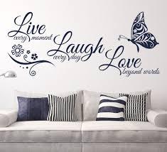 aliexpress com buy live laugh love butterfly flower wall art