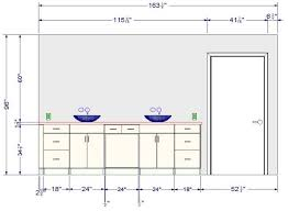 hauteur des meubles de cuisine taille standard meuble cuisine cuisine all in bois orme perle
