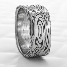 Steel Wedding Rings by 86 Best Damascus Steel Rings And Wedding Bands Images On Pinterest