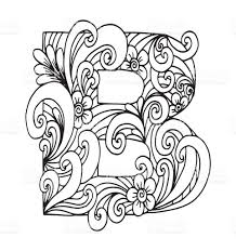letter b for coloring vector decorative object illustration