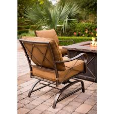 Patio Furniture Sets With Fire Pit by Hanover Summer Night 5 Piece Gas Fire Pit Set Seats 4 Walmart Com
