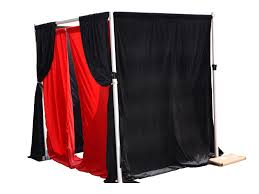 photo booth enclosure adjustable pipe and drape photo booth enclosure 4 7ft w 7 10ft h