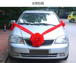 car ribbon handmade wedding ribbon hydrangea flower