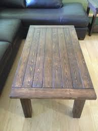 handmade coffee table rustic handmade coffee table with breadboard ends by