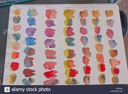 an artist u0027s samples of color combinations for watercolor painting