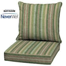 Lowes Patio Chair Cushions Shop Allen Roth Multi Eucalyptus Glenlee Stripe Seat Patio