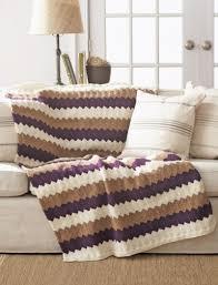 bernat chevron blanket knit pattern yarnspirations
