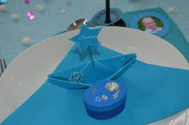 decoration theme mer décoration de table pour les 40 ans de mon homme sur le thème de