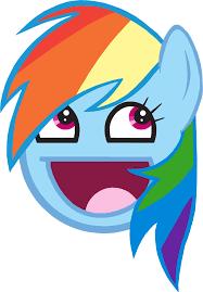 Awesome Face Meme - image rainbow dash awesome face by wakabalasha png halo nation