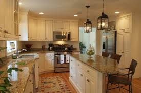 luxury kitchen ideas with wooden beige painted kitchen cabinet
