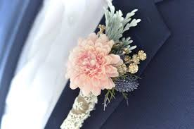 gold boutonniere blush and navy wedding boutonniere blush boutonniere dusty