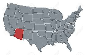 map of the united states with arizona highlighted political map of united states with the several states where