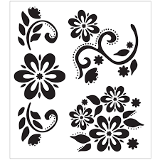 kitchen stencil ideas folkart debbie u0027s floral painting stencils 30599 the home depot