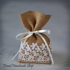 bridal shower gift bags candy favor bag wedding burlap gift bag bridal shower set of
