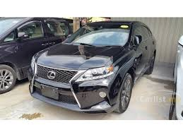2012 lexus rx 350 lexus rx350 2012 f sport 3 5 in selangor automatic suv black for
