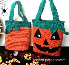 free crochet pattern halloween bags pattern paradise